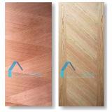 HDFのドアのパネルの皮か緑のMoistureproof MDFのドアの皮を形成する安い灰のベニヤ