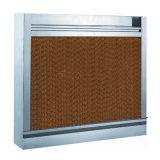 El ganado contiene el sistema de ventilación, cortina mojada