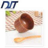 Выполненная на заказ творческая проступь Non-Slip изоляция естественная деревянная чашка