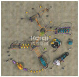 Het Beklimmen van Kaiqi de Openlucht OpenluchtdieSpeelplaats van het Systeem met de MultiSpelen van het Spel wordt gecombineerd (KQ60134A)