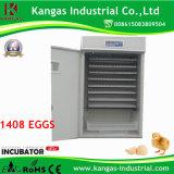 le CE (de 1408 oeufs) a certifié l'incubateur complètement automatique de poulet d'utilisation de ferme à vendre (KP-13)