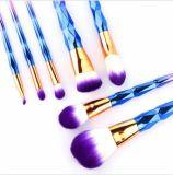 инструмент комплекта щетки цветастого состава щетки губы Eyeshadow радуги 7PCS ПРОФЕССИОНАЛЬНОГО косметический