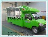 Lo spuntino lavora il camion alla macchina mobile degli alimenti a rapida preparazione da vendere