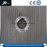 Profesional de acero inoxidable 304 de alambre tejido espiral Cinturón de malla de cuadrícula