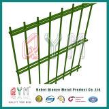 Frontière de sécurité de fil plate enduite de PVC de qualité double/panneau jumeau de treillis métallique