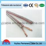 Rot und Transprent zwei Kern-paralleles Lautsprecher-Kabel