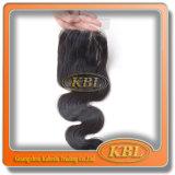 Synthetic lateral de venda quente do fechamento do cabelo da peça de 3 maneiras