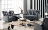 Italian Leather Sofa Sets Manual Function Furniture para Cinema Home