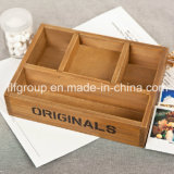 Contenitore di legno solido con la finestra libera e la scatola di di legno il tè dei 12 scompartimenti