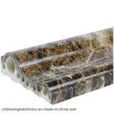 Chaîne de production en pierre de marbre de PVC avec la machine d'extrudeuse de profil