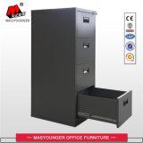 Gabinete vertical do original da gaveta preta do armazenamento de arquivo 4 do metal