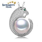 925 collana d'acqua dolce naturale sterlina del pendente della perla del AAA 10-11mm dell'argento