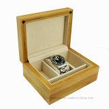 Boîte de présentation en bois noire de montre de fini de piano de noir de placage d'Icetree