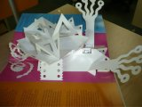 Foldableクリスマスのペーパーギフト用の箱