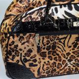 PVCトリムの良質の2017年のヒョウの印刷のトロリー袋