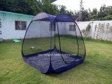 Im Freien oben kampierende Zelte knallen