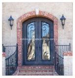 Portas usadas do ferro da segurança do projeto de Eyebrown casa clássica superior com Sidelight