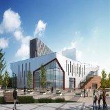 フィットネス・センターの外部の建築レンダリングのプロジェクト
