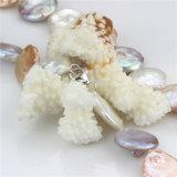 Collar perla de la moneda de la manera colorida collar de perlas 20 mm AA