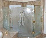 Tempered стекло ванной комнаты с отверстиями и меля краями