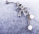 Juwelen van de Manier van de Juwelen van de Navel van de Parel van de Diamant van de boog de Doordringende