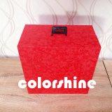 Contenitore di regalo rosso dell'imballaggio della visualizzazione dei monili di alta qualità