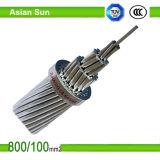 Condutor de alumínio padrão de ASTM, aço folheado de alumínio ACSR/Aw reforçado