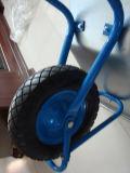 Carretilla de rueda galvanizada de la rueda Wb5009 de la bandeja y del aire
