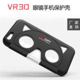 Virtual reality pliant la caisse de téléphone en verre de 3D Vr pour l'iPhone cas de téléphone mobile de 5 6 Vr d'ABS + de PC