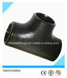 Té sans joint soudé par bout de garnitures de pipe de l'acier du carbone A420 Wpl6