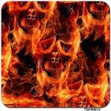 Пленка печатание перехода воды зомби пламени черепа ширины Tsautop 1m гидрографическая окуная