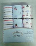 100% coton imprimé en flanelle pour bébé, 3PCS par jeu