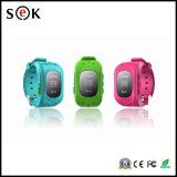 Teléfono móvil del cabrito Q50 del reloj del soporte SIM de la tarjeta del G/M GPS SOS del reloj teledirigido barato de la alarma