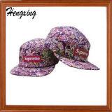 刺繍されたCostom 5のパネルの帽子は、あなた自身の5つのパネルの帽子を設計する