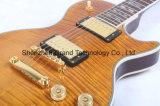 Première guitare électrique Supreme de Lp de double de tigre érable fait sur commande de flamme