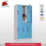 6 Mesh puerta del gimnasio almacenaje de la ropa del armario de metal