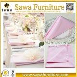 Wedding fornece o vermelho do guardanapo da cor-de-rosa do poliéster de 50cm