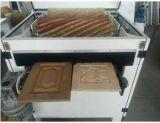 Winkel, der automatisches Holz gebogene Möbel-polierende Maschinen-Holzbearbeitung-Maschine kippt