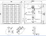 módulo monocristalino del picovoltio del panel solar de 18V 70W 75W 80W con el Ce aprobado