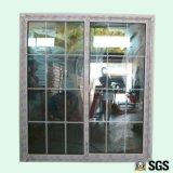 Стекло двойника хорошего качества с раздвижной дверью профиля цвета UPVC решетки белой, дверью, окном K02084
