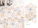 El cuarto de baño resistente del azulejo del resbalón del cuarto de baño embaldosa el azulejo de la esquina del hexágono seises