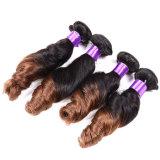 A onda profunda frouxa brasileira 4 Weave brasileiro do cabelo do Virgin molhado e ondulado pacotes do cabelo humano do cabelo 8A de Annabelle empacota a onda frouxa
