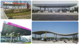Azotea de la estructura de acero de la gasolinera