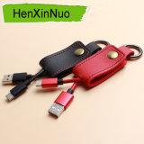 Cabo do USB do conetor dos dados de Keychain do cabo do telefone móvel