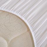 Классицистическое белое обыкновенное толком покрывало тюфяка ткани Терри водоустойчивое для дома/гостиницы/стационара