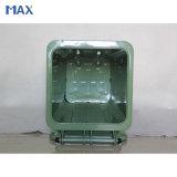 Compartimiento de polvo grande del metal al aire libre, Wheelie reciclable cubo de la basura de 120 litros