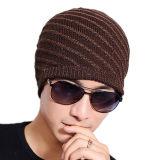 Chapeau de patinage de ski de Beanies tricoté parhiver chaud de piste réversible de chapeaux de Double couche de Mens (HW403)