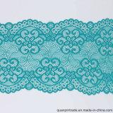 Tessuto svizzero del merletto del voile del ciano merletto della guarnizione