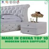 Jogo de couro moderno do fundamento da mobília do quarto