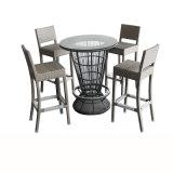 رماديّ [ب] [رتّن] حانة طاولة مجموعة على عمليّة بيع
